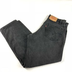 Vtg USA Levi's 555 black high rise relaxed 34x30